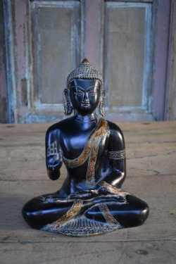Bronze Buddha depicting the Abhaya Hand Mudra <b>sold<b>